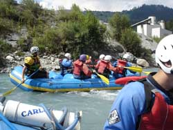 Atelier 2 beim River Rafting